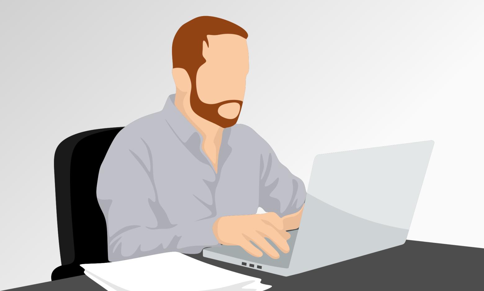 Homme d affaire bureau travail ordinateur images gratuites images gratuites et libres de droits for Photos gratuites travail bureau