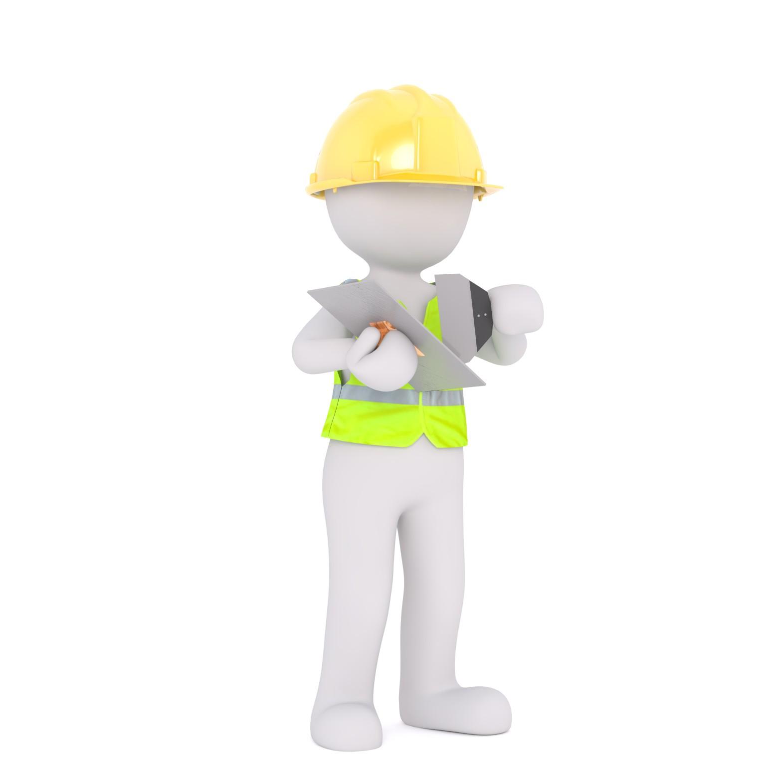 bonhomme blanc 3d ouvrier images gratuites