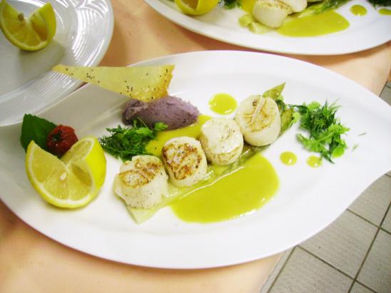 restaurant cuisine recette noix de saint-jacques