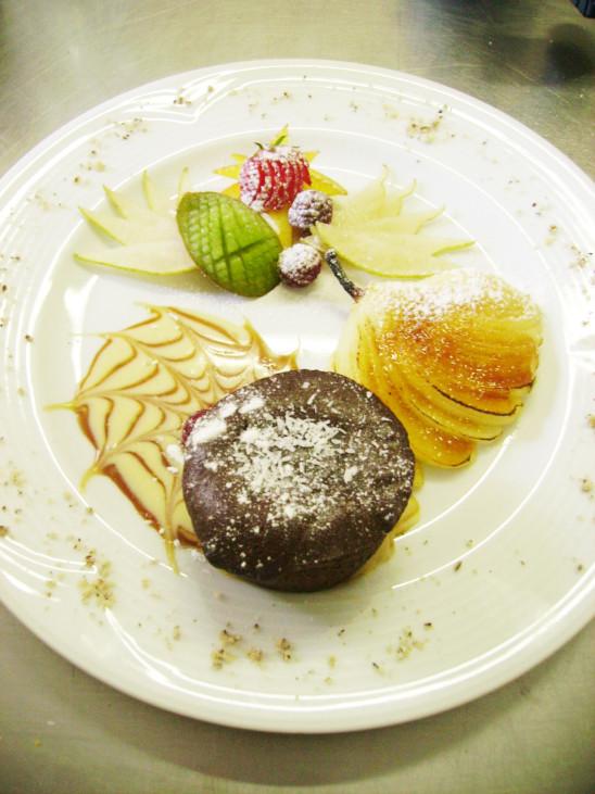 gâteau dessert fondant au chocolat