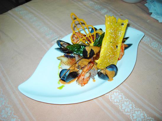 assiette fruit de mer moules crevettes gambas