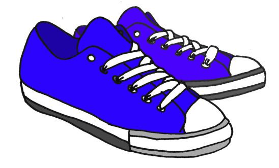 basket tennis bleu illustration