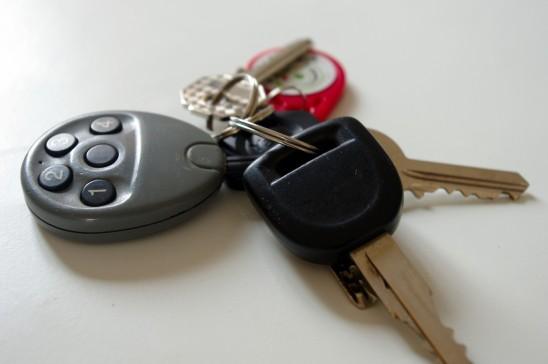 clés de voiture trousseau