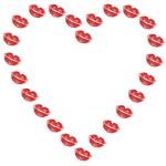 coeur empreinte rouge à lèvre baiser kiss bisoux embrasser