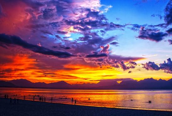 coucher de soleil paysage