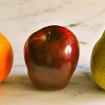 fruit pomme poire orange