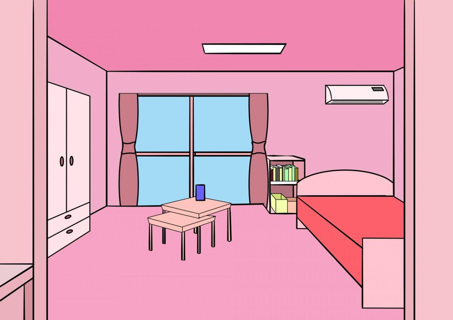 illustration chambre d\' enfant fille rose   images gratuites et ...