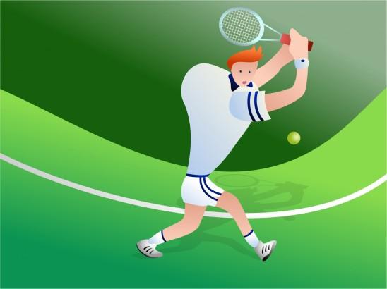 illustration joueur de tennis