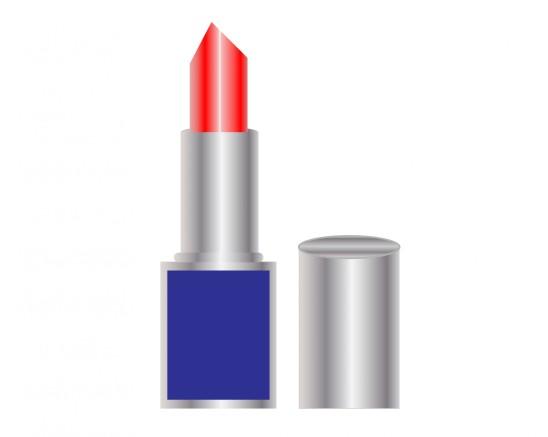 illustration maquillage cosmétique rouge à lèvre