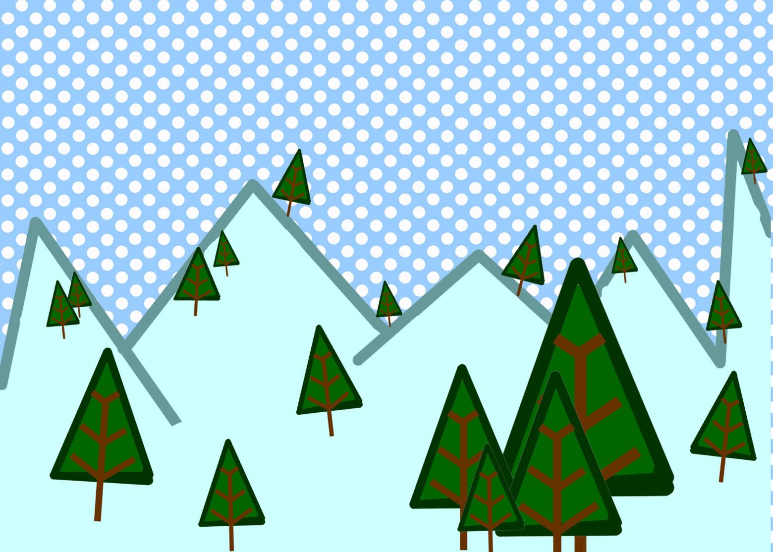 illustration vecteur hiver saison sapin montagne images gratuites et libres de droits. Black Bedroom Furniture Sets. Home Design Ideas