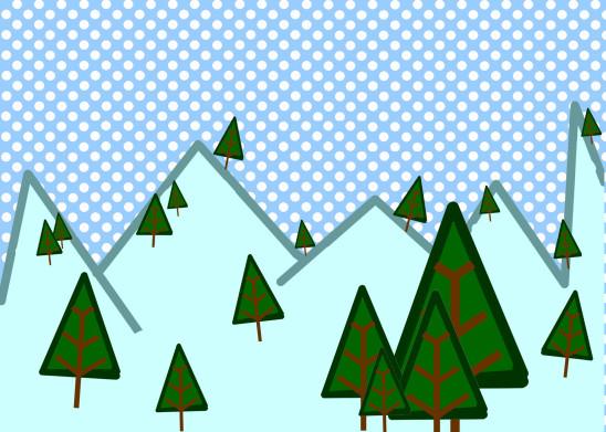 illustration vecteur hiver saison sapin montagne