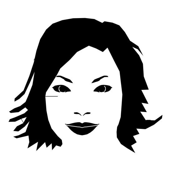 illustration vecteur visage de femme