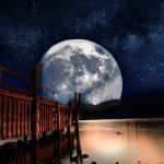 paysage étoiles lunes lac rivière