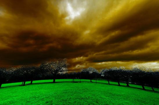 paysage crépuscule