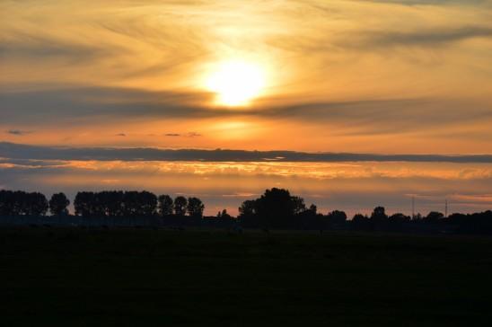 paysage crépusucle coucher de soleil