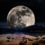 paysage mystique lune astre étoile