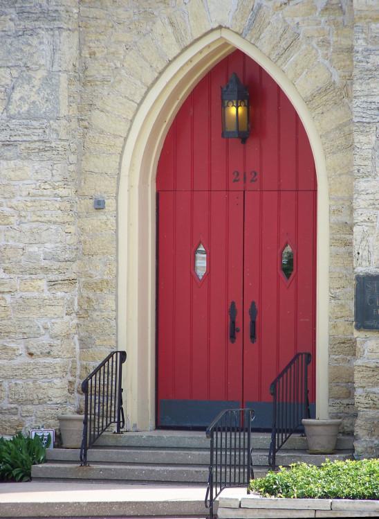 porte rouge orientale