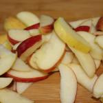 tranches de pommes découpées