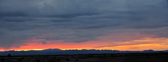 paysage panoramique coucher de soleil