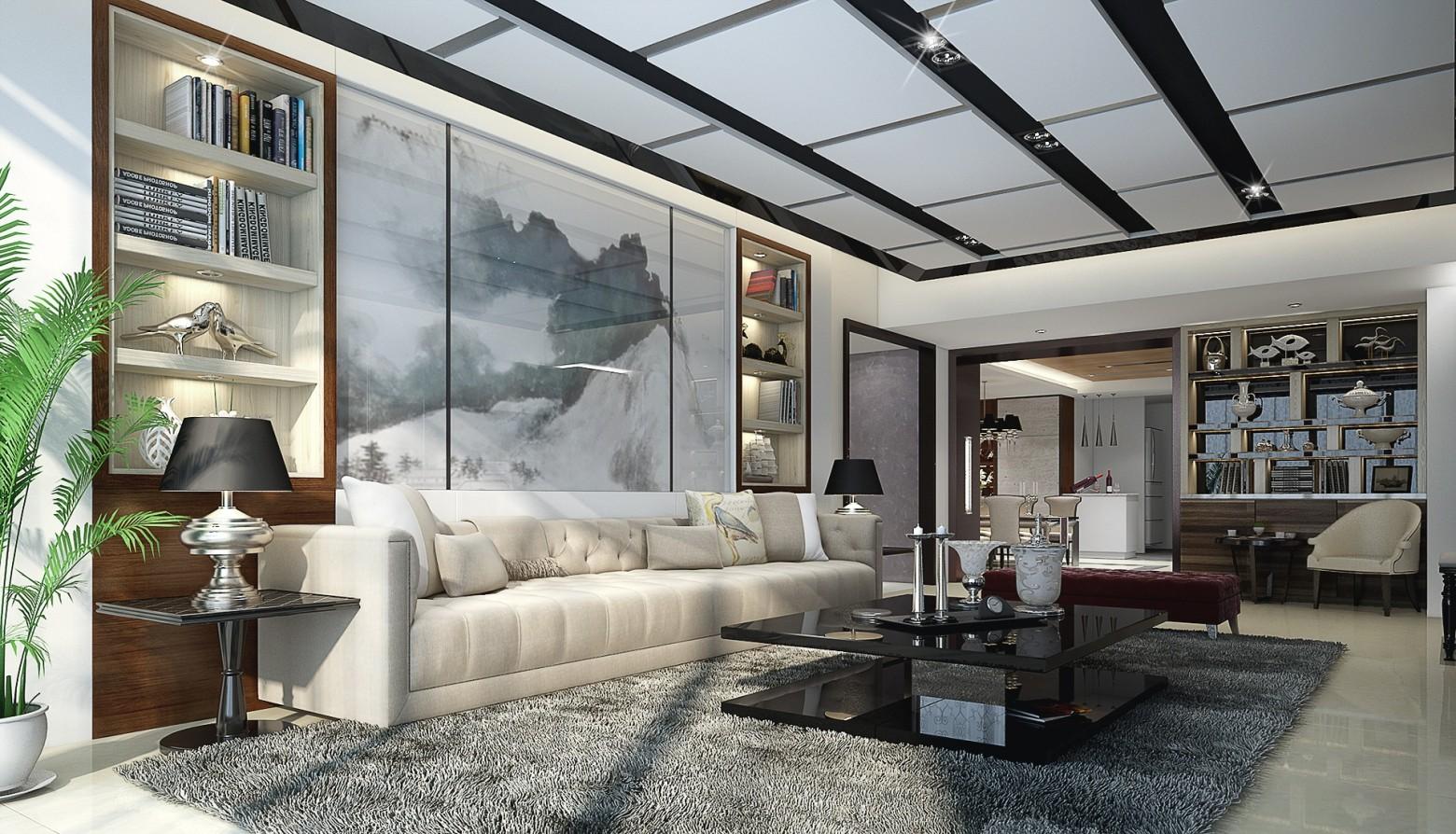 maison intérieur salon design moderne en 3d images gratuites ...
