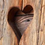 coeur sculpté gravé sur le bois images photos gratuites