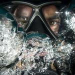 homme plongée sous-marine scaphandre eau bulle images photos gratuites
