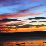 paysage beau coucher de soleil photos libres de droits