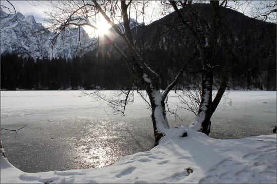paysage de neige hiver lac glacé images