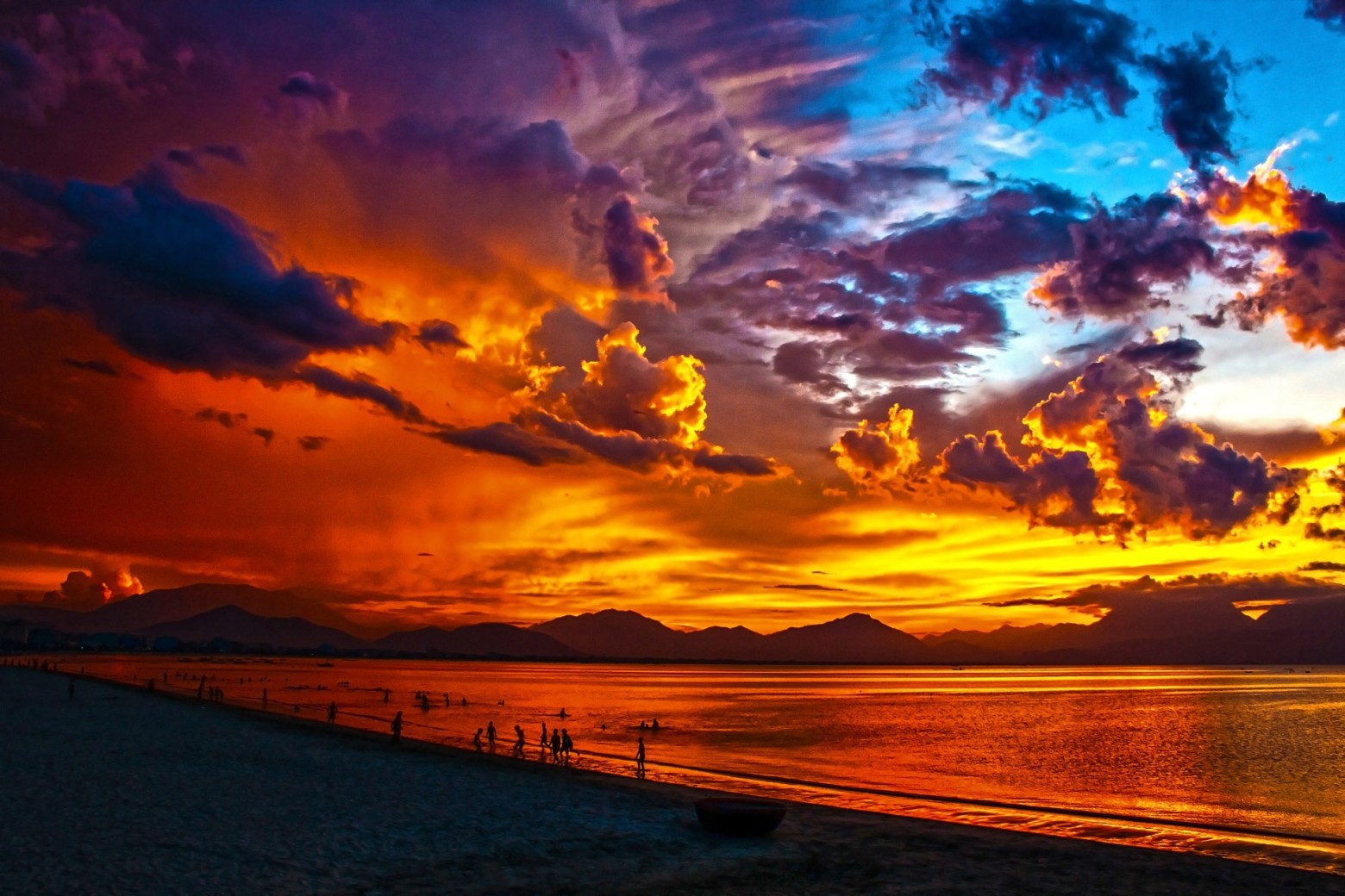 Les plus beau coucher de soleil fond d cran images - Fond ecran coucher de soleil sur la mer ...