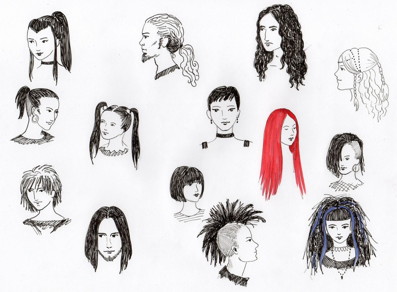 Connu dessin portrait de femme et homme   images gratuites et libres de  QB91
