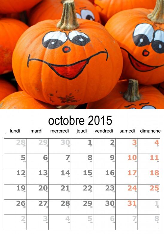 calendrier octobre 2015 à télécharger gratuitement