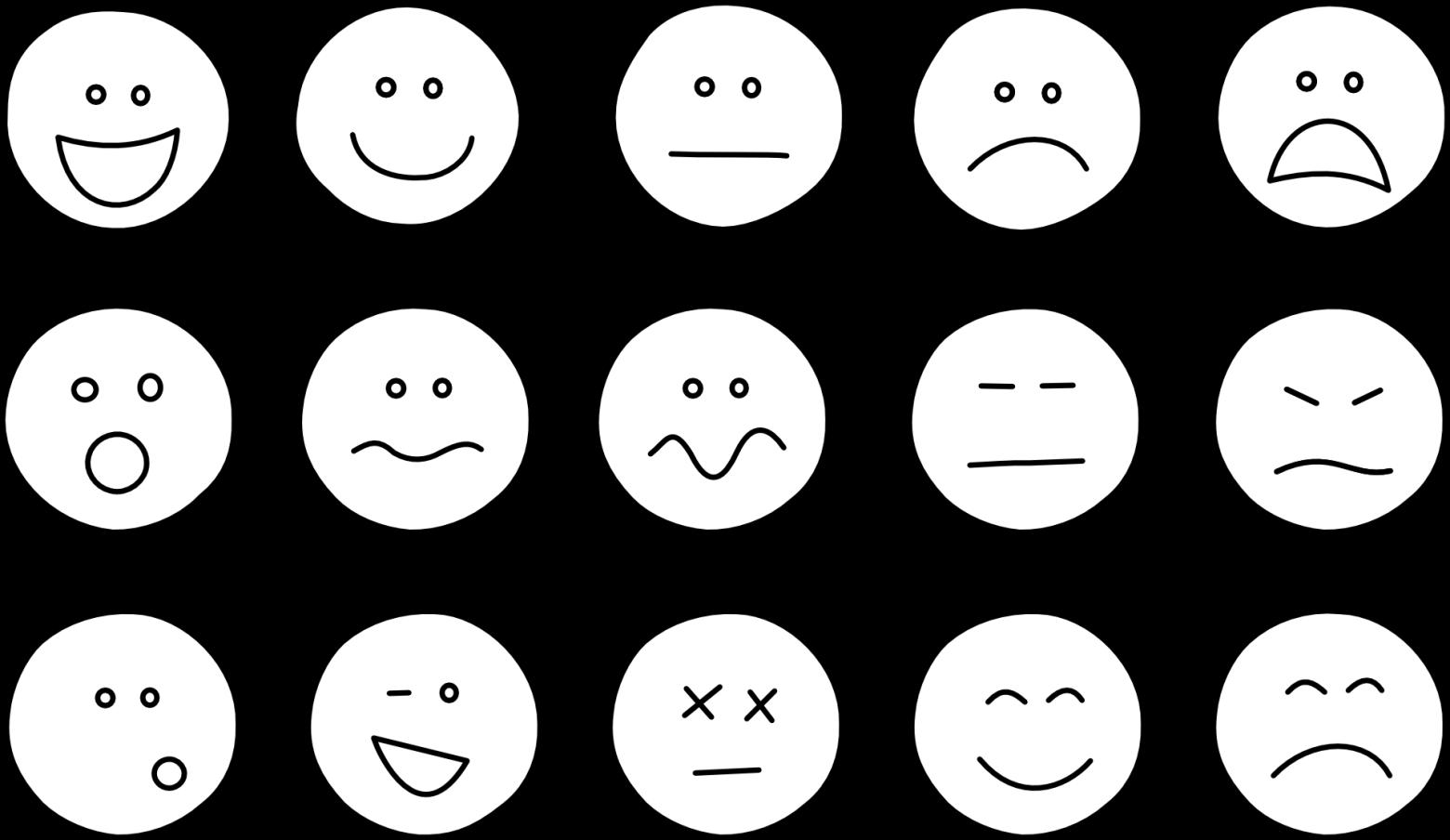 Smiley symbole motic nes images gratuites images - Smiley en noir et blanc ...
