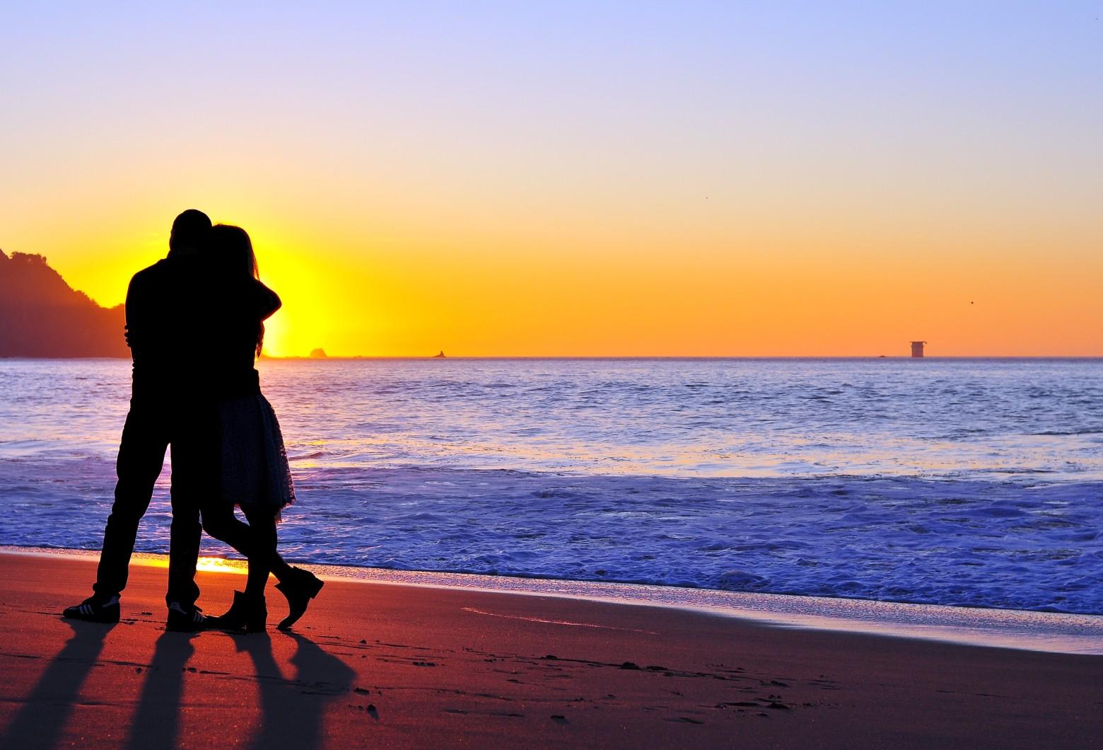 image amour sur la plage