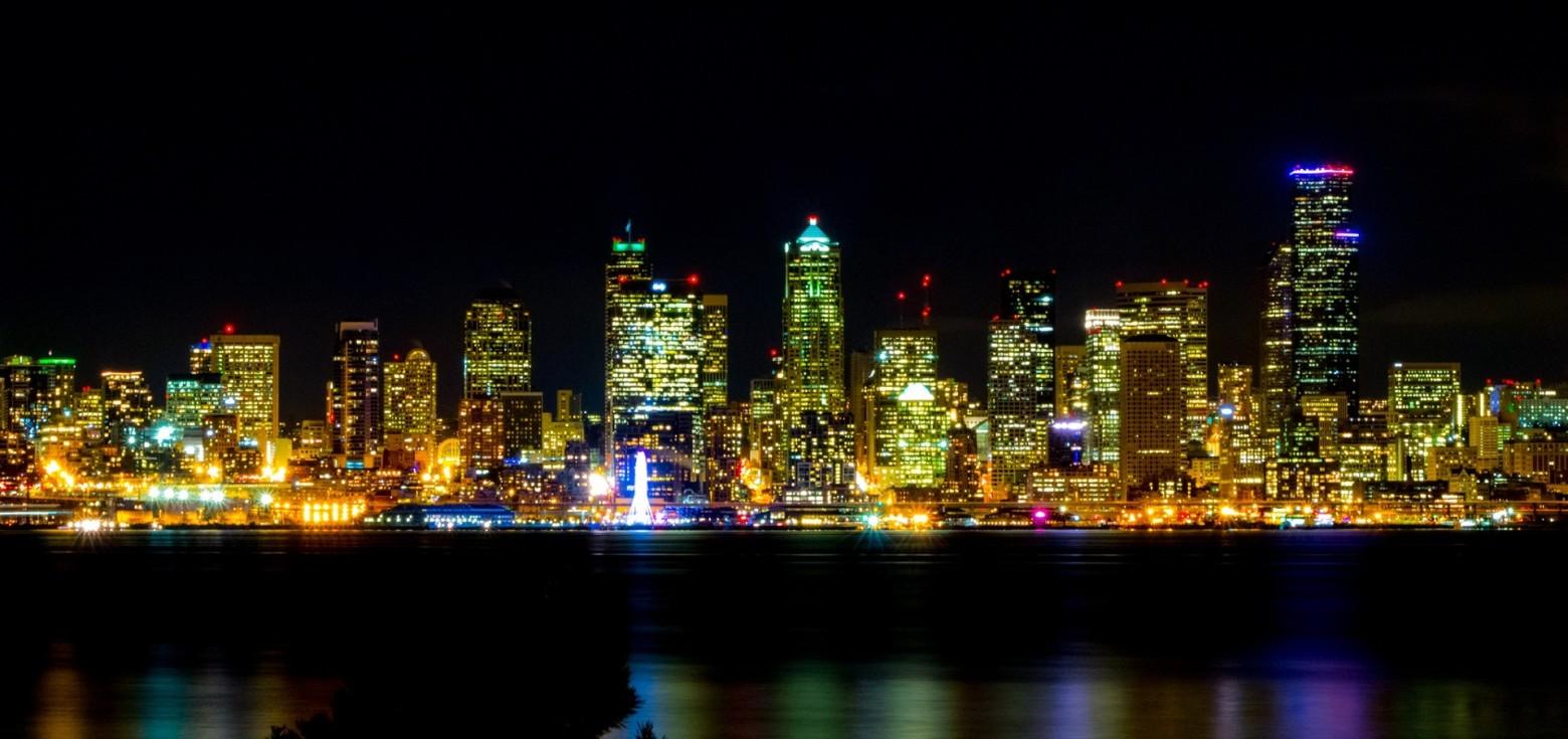 Paysage urbain ville city nuit clair e images gratuites for Piscine eclairee la nuit