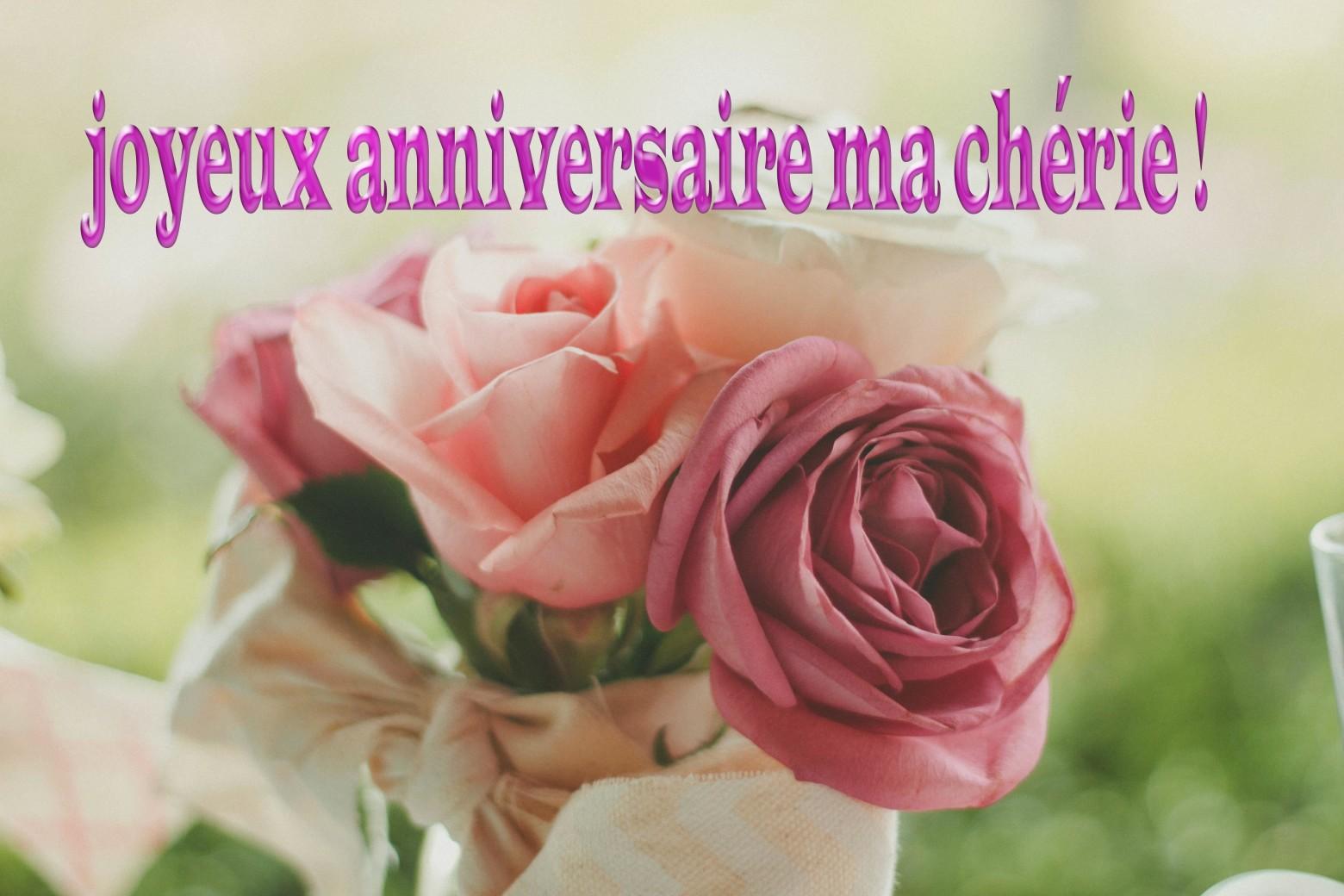 bon anniversaire ma chérie