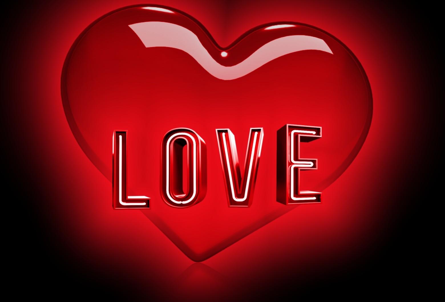 Fond d cran saint valentibn coeur 3d image gratuite - Images coeur gratuites ...
