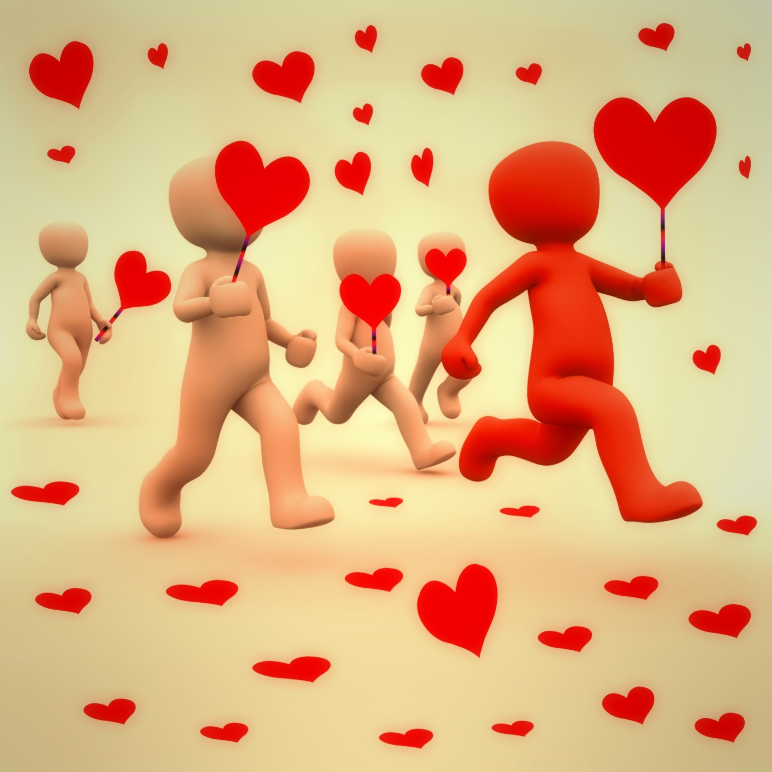 Saint valentin carte image amour coeur love bonhomme image - Images coeur gratuites ...