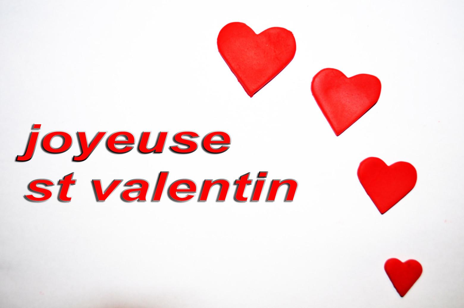 Joyeuse st valentin carte de voeux images gratuites - Image st valentin gratuite ...