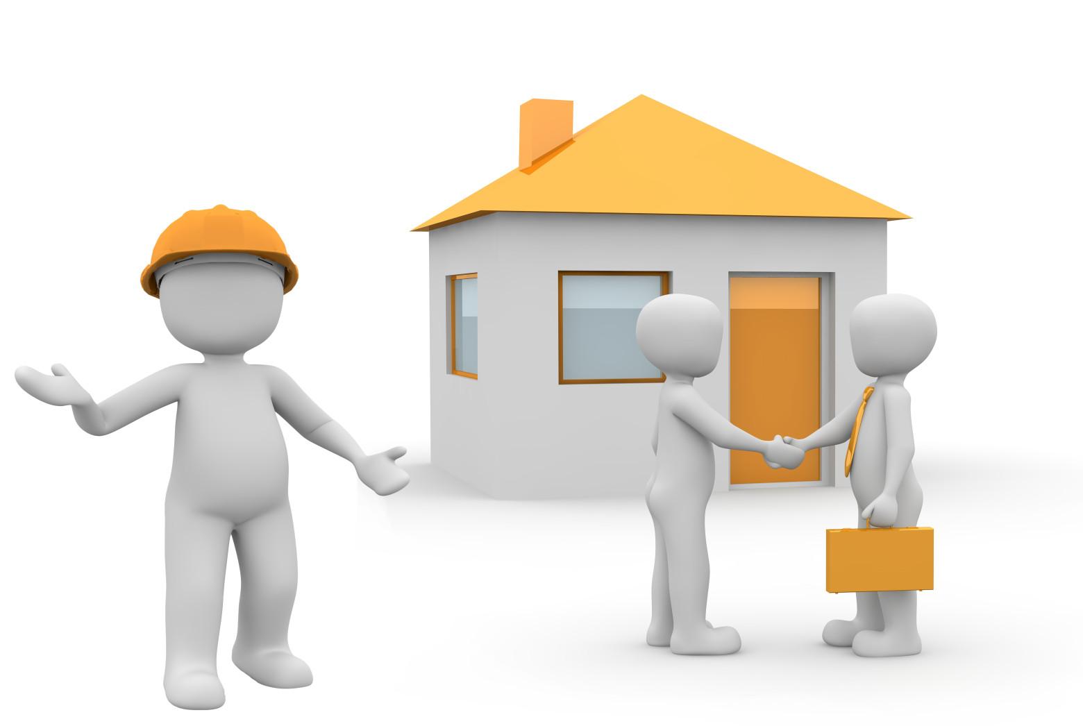 bonhomme blanc 3d maison n u00e9gociant immobilier achat vente images gratuites