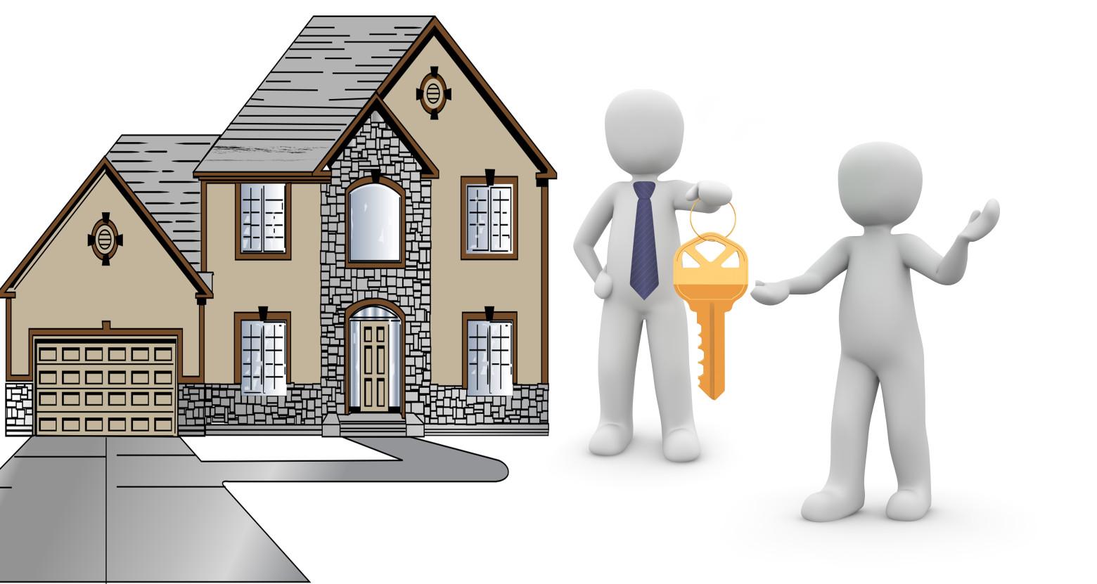Bonhomme blanc 3d vendeur client maison cr dit immobilier for Vendeur de maison
