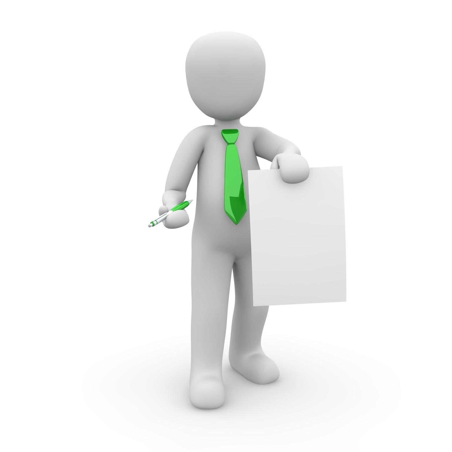 bonhomme blanc 3d business carte de visite images
