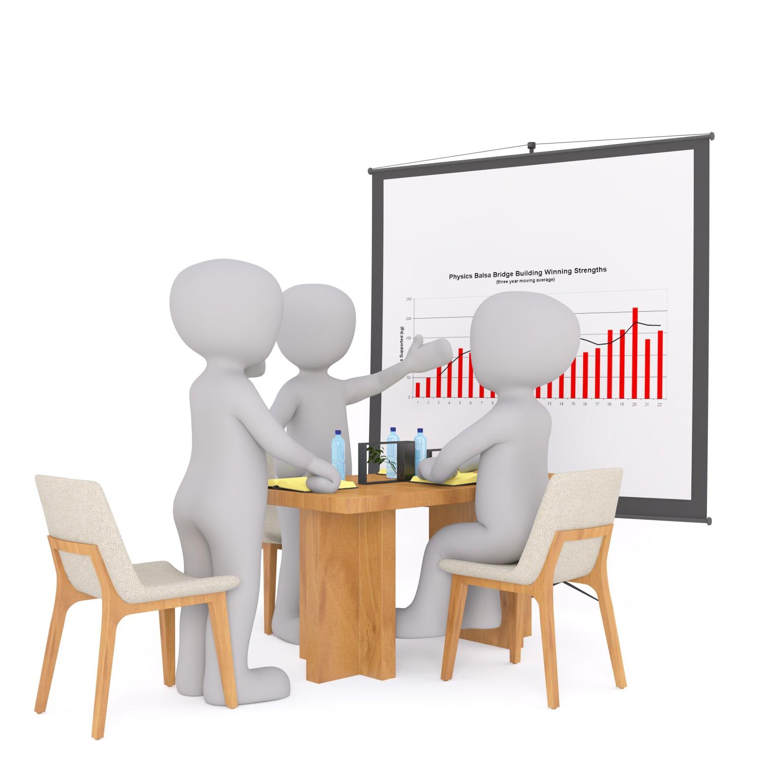 Bonhomme blanc 3d groupe r union business images gratuites - Dessin bonhomme assis ...
