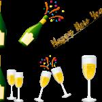 champagne et bonne année
