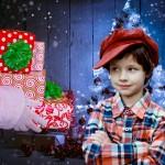 père noel cadeaux et enfant