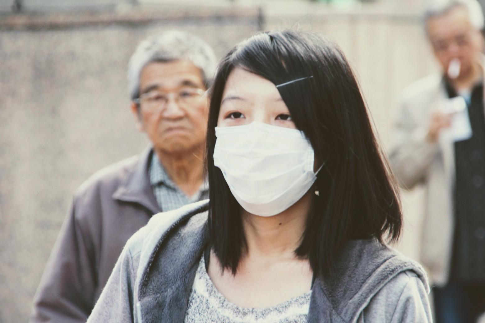 coronavirus chine femme masque protection virus