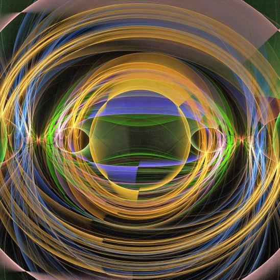 abstrait cercle lumineux