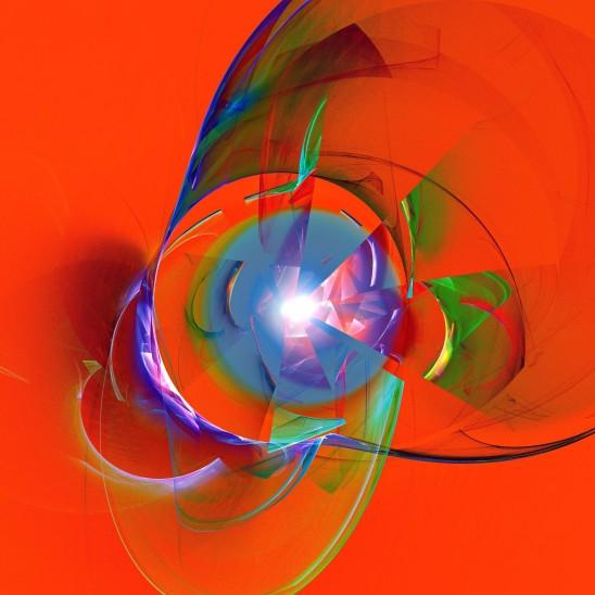 abstrait image fractal fond rouge
