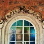 ancienne fenêtre en arc vouté