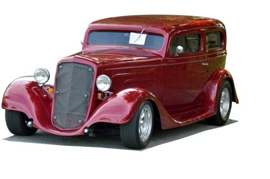 ancienne voiture rouge de collection
