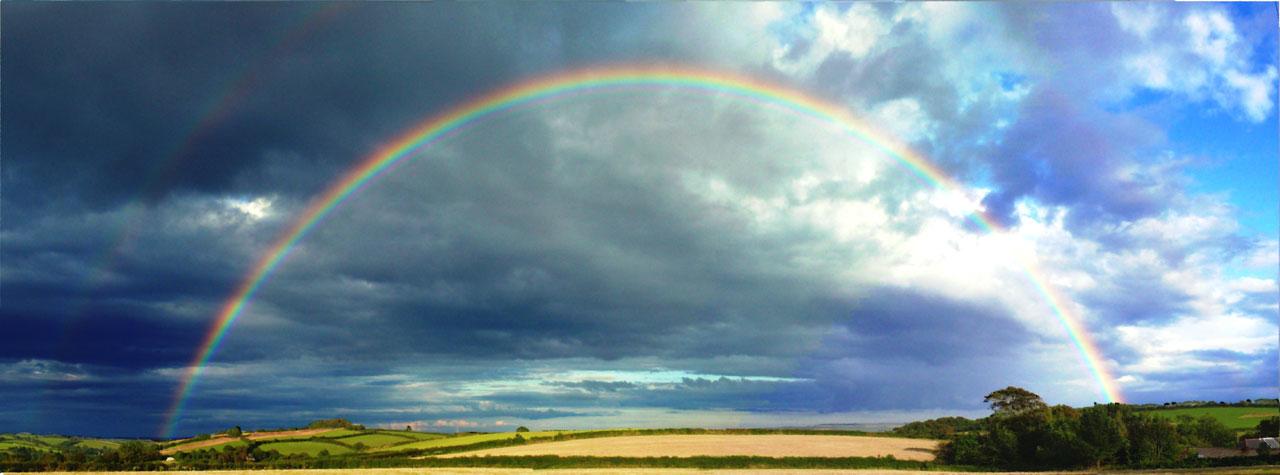 arc en ciel nuage temps